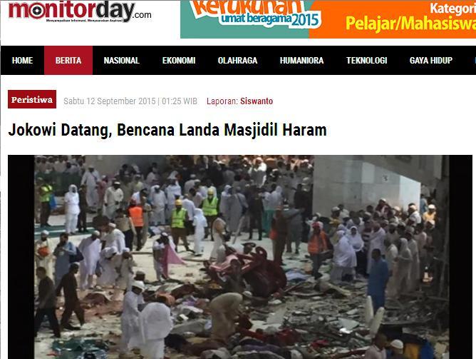 Bedakan Tiga Hal ini dalam Insiden Jatuhnya Crane di Masjidil Haram